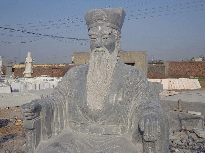 石刻包公像精雕细琢
