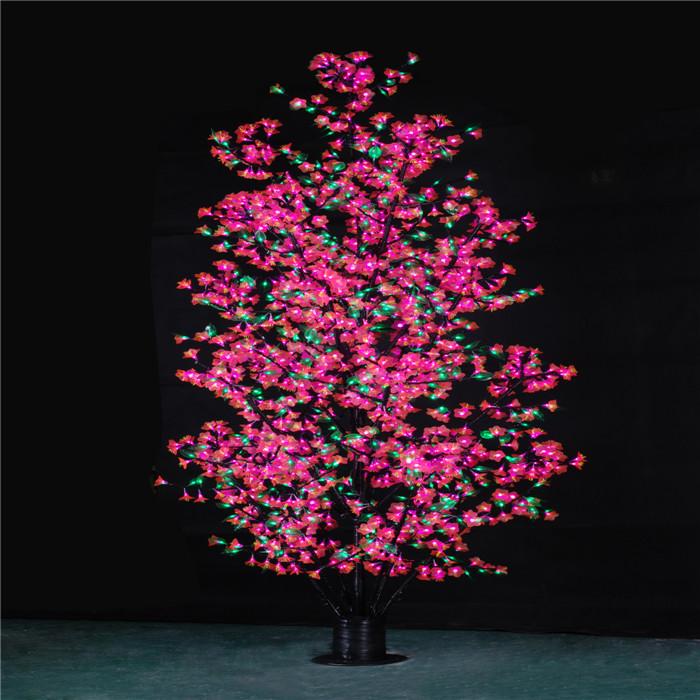 DX-2592灯-2.8米125W绿叶粉花  树灯生产厂家