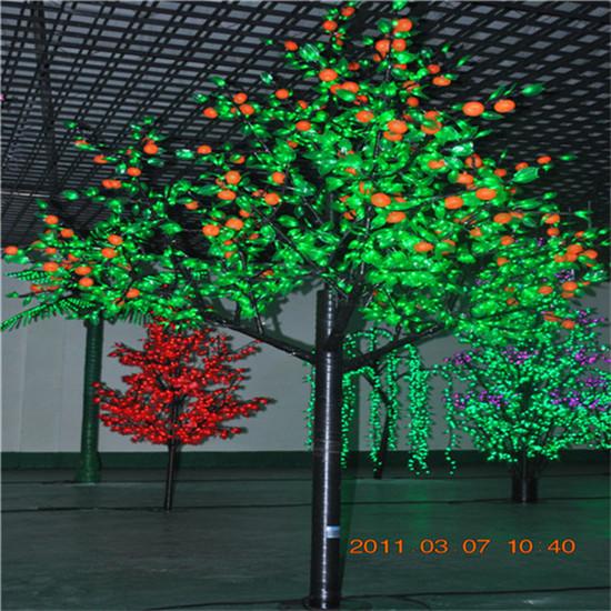 景观树灯3米-2304灯发光树-桔树led树灯