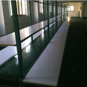 东莞生产拉旧线改造  白色长条工作台生产线